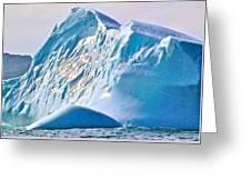 Moody Blues Iceberg Closeup In Saint Anthony Bay-newfoundland-canada Greeting Card