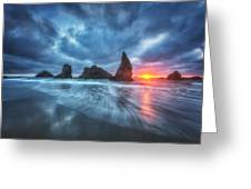 Moody Blues Of Oregon Greeting Card by Darren  White