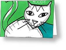Moody Cat- Pop Art Greeting Card