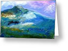 Moody Sky Over Eagle Hill In Spring  Greeting Card