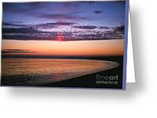 Moody Sunset Greeting Card