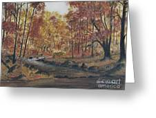 Moody Woods In Fall Greeting Card