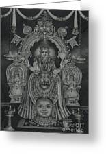 Mookambika Devi Greeting Card by Asha Sasikumar