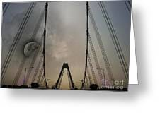 Moon And A Bridge Greeting Card