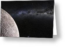 Moon And Galaxy. Greeting Card