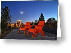 Moon Chairs Greeting Card by Dan Quam