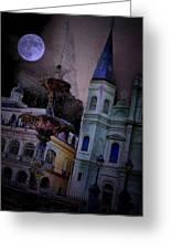 Moon Drops Greeting Card