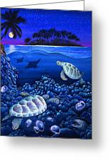 Moon Glow Greeting Card by Carolyn Steele