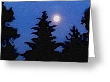 Moon Glow Greeting Card