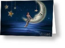 Moon Goddess Greeting Card by Juli Scalzi