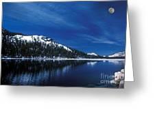 Moon - Lake Greeting Card