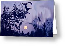 Moon Madness Greeting Card