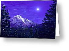 Moon Mountain Greeting Card