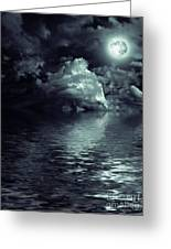 Moon Mysterious Greeting Card