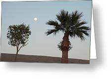 Moon Over Baja Desert Greeting Card