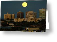 Moon Over Bal Harbour Greeting Card