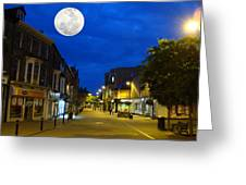 Moon Over Harrogate Uk Greeting Card
