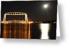 Moon Over Lake Superior Greeting Card