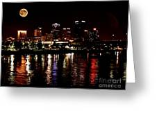 Moon Over Little Rock - No.411 Greeting Card