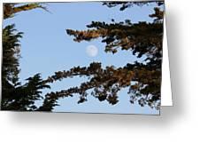 Moon Over Morro Bay Greeting Card