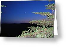 Moon Over Mountain Greeting Card