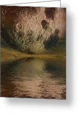 Moon Over Ocean Greeting Card by Ayse Deniz