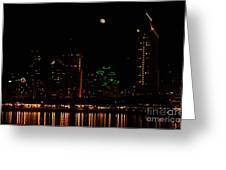 Moon Over San Diego Greeting Card