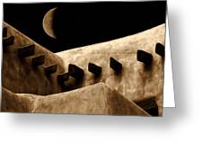 Moon Over Santa Fe Greeting Card