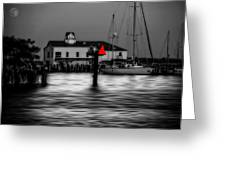 Moon Over Solomons Greeting Card