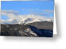 Moon Over The Rockies - Panorama Greeting Card