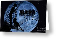 Moon Party Greeting Card