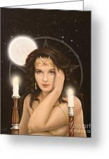 Moon Priestess Greeting Card