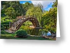 Moonbridge - The Beautifully Renovated Japanese Gardens At The Huntington Library. Greeting Card