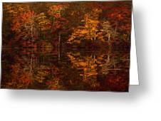 Moonlight Autumn Greeting Card