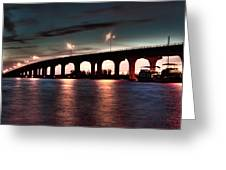 Moonlight Bridge Greeting Card