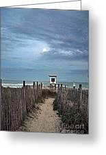 Moonlight Drama On The Beach Greeting Card