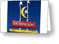Moonlight Drive In Greeting Card