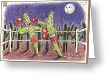 Moonlight Fight Greeting Card
