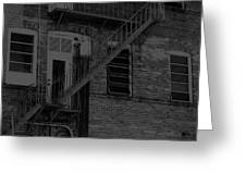 Moonlight Fire Escape Usa Near Infrared Greeting Card