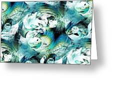 Moonlight Fish Greeting Card