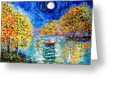 Moonlight Fishing Greeting Card