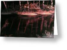 Moonlight In Pink  Greeting Card