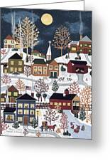 Moonlight In Vermont Greeting Card