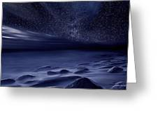Moonlight Greeting Card by Jorge Maia