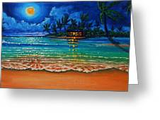 Moonlight Lagoon Greeting Card by Joseph   Ruff