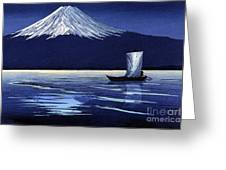 Moonlight On Fujiyama Greeting Card