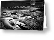 Moonlight On The Bay Greeting Card