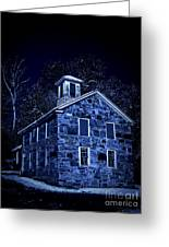 Moonlight On The Old Stone Building  Greeting Card by Edward Fielding