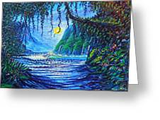 Moonlight Path To Paradise Greeting Card