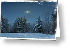 Moonlight Snow Greeting Card